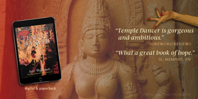 """Ad for Temple Dancer """"What a great book of hope!"""" Surviving uncertainty"""